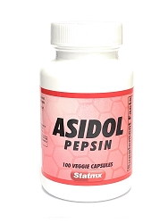 Asidol Enzymes (Pancreatin,Pepsin, Betaine HCL)100 vegetable caps