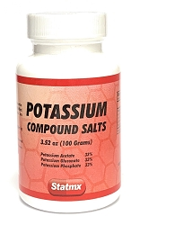 Potassium COMPOUND SALTS 100 grams W / 12 Bottles